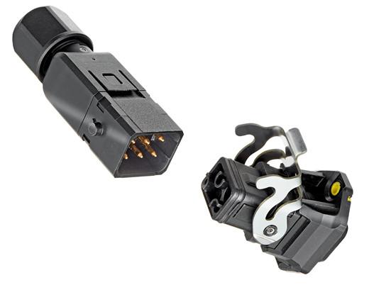 连接系统外围小尺寸组件时更加节省空间:Han® 1A